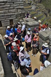 We zijn niet alleen op Machu Picchu.