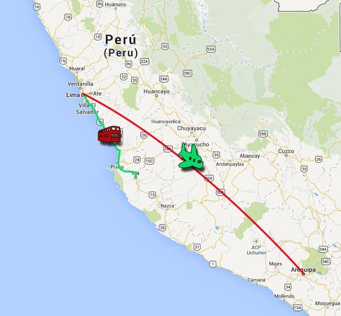 Dag 8 Ica - Lima - Arequipa