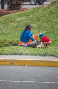 Lima: vrouw met kind