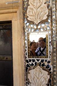 Selfie in het spiegelpaleis