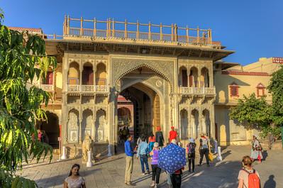 Ingang van de City Palace Jaipur