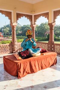 Taj Jai Mahal Palace Hotel, spijtig hij was zijn slang vergeten.