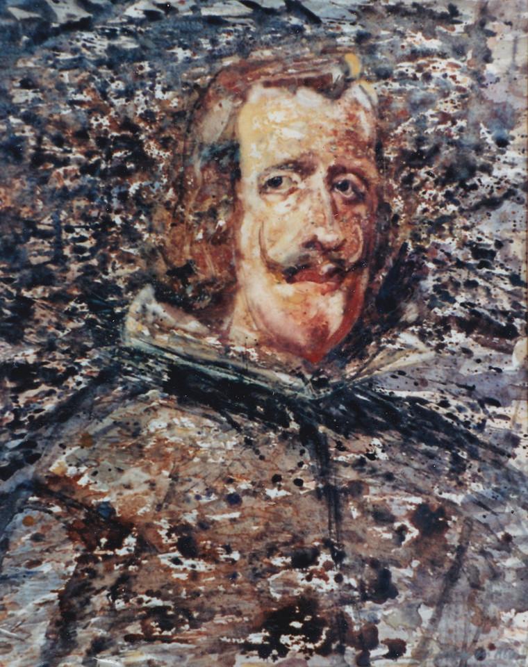 Peter McLaren, Homage to Velasquez, Philip IV,  1986, Watercolour on Paper