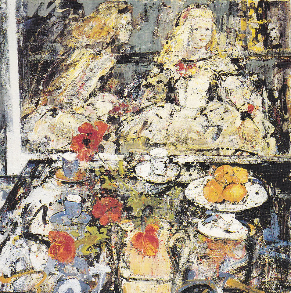 Peter McLaren, Still Life with Velasquez Infanta, Oil on Board, 48 x48 inches