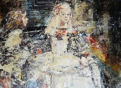 Peter McLaren, Homage to Velasquez, Las Meninas, Oil on Board  108 x 150cm