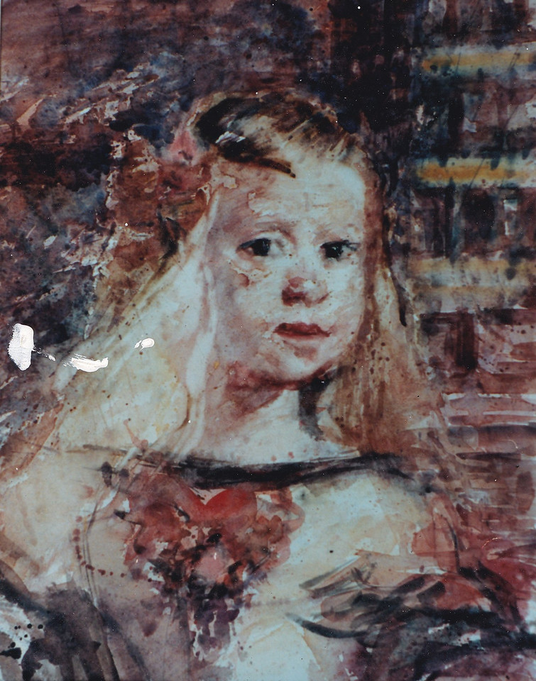 Peter McLaren, Homage to Velasquez, Las Meninas. 1986,  Watercolour on Paper
