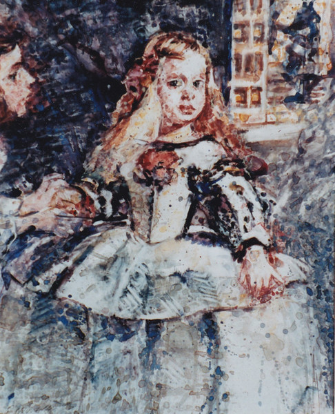 Peter McLaren, Homage to Velasquez, Las Meninas, 1986, Watercolour on Paper