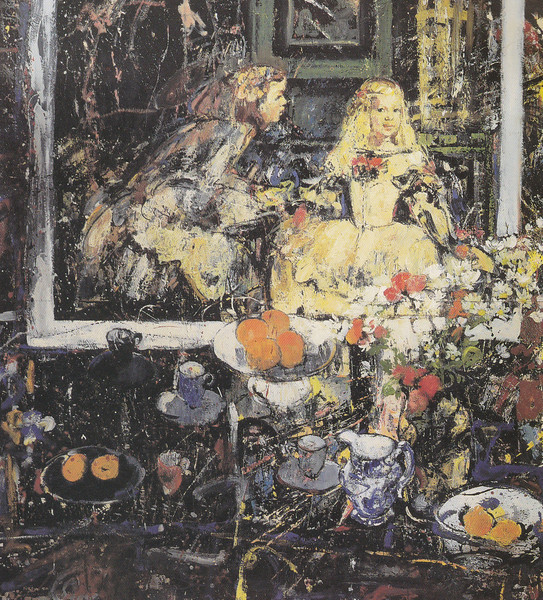 Peter McLaren, Still Life with 'Las Meninas' 1993, Oil on Board 72 x 66 inches, Concept Group Collection