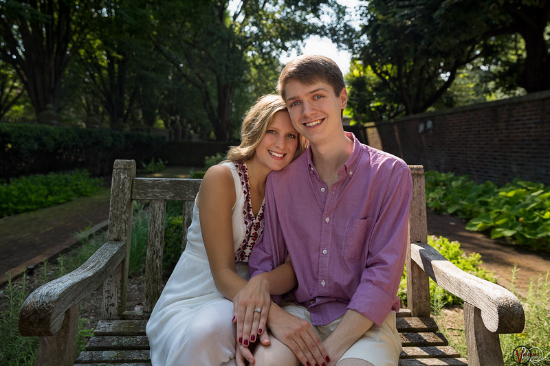 August 9, 2016 Savannah and Cody engagement seesion at Irwin Gradens in Columbus, IN.