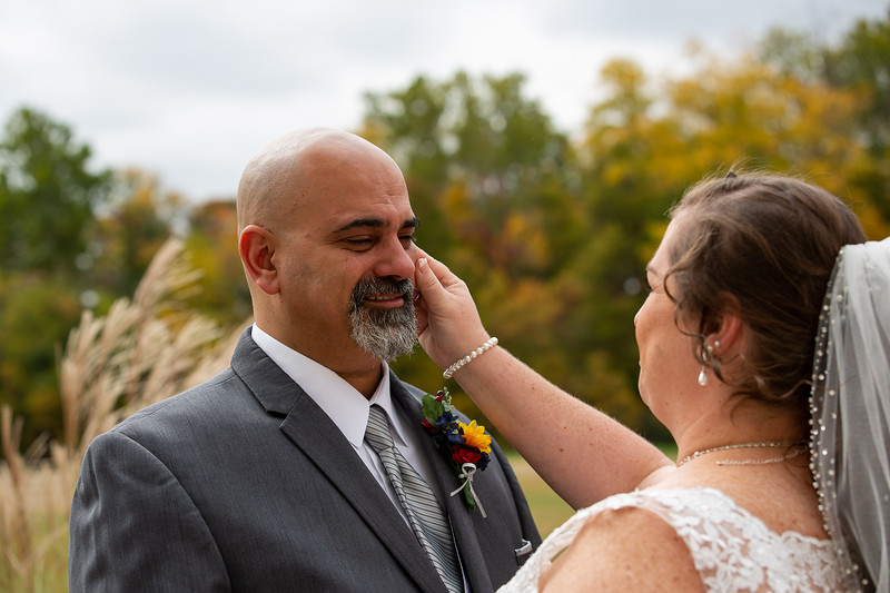 Mandy & Uri Shper wedding on October 10, 2020. Photo by Vasquez Photography