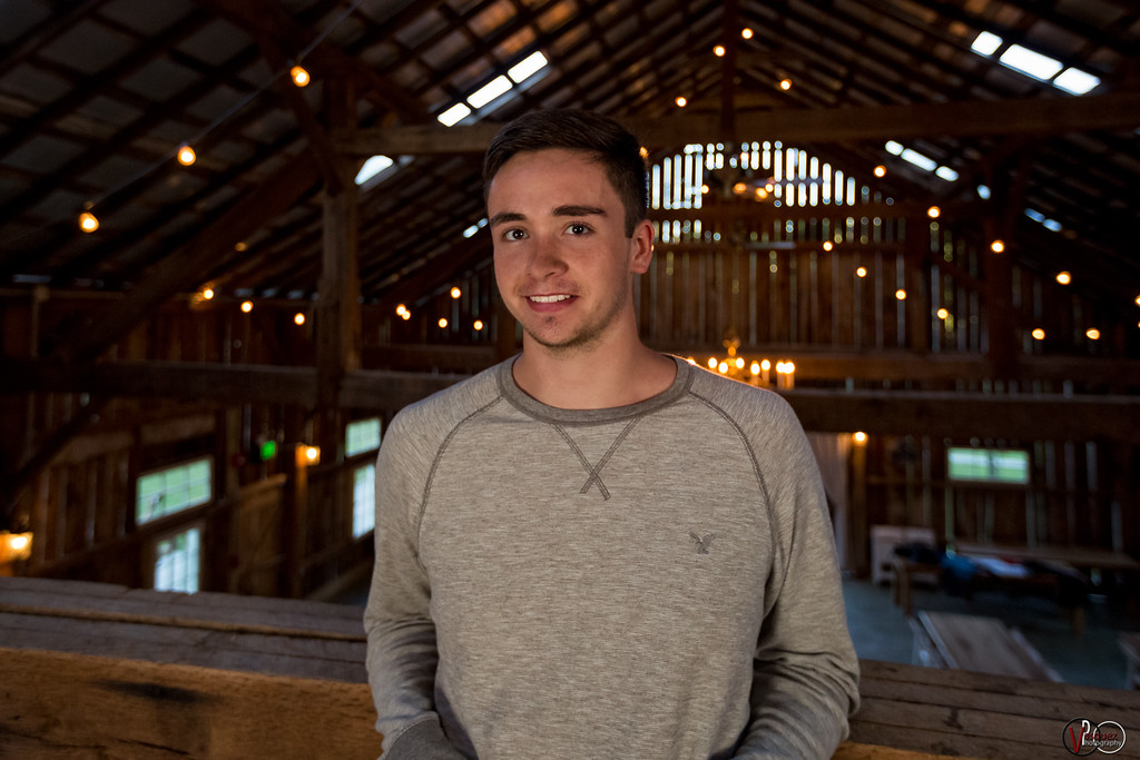 September 22, 2016 Hunter  senior session at the Old Barn at Brown County in Nashville, Indiana.