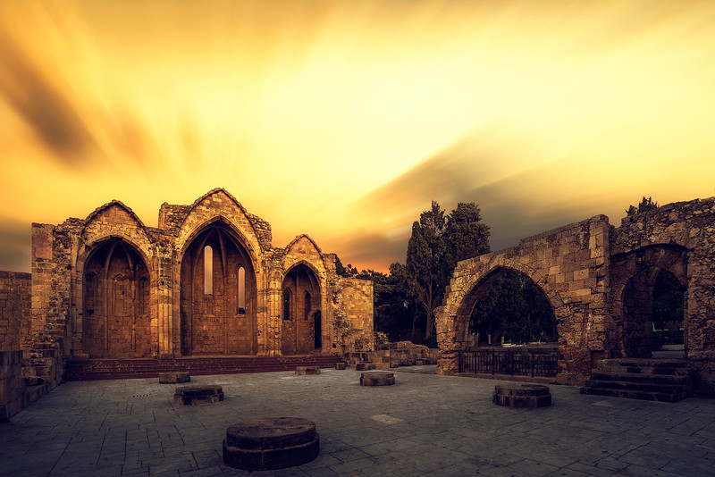 The Church of Panagia (Virgin Mary) of the Burgh in the old town of Rhodes