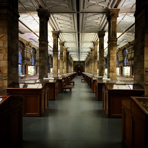 The Hall of Minerals of the Natural History Museum of London | London | October 2014