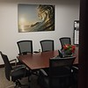 """The Lion Wave"" in an office in the city. 40x60 Aluminum"