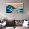 """Pier View"" is a speed blur taken at Newport Pier in California. This is a 30x50 custom aluminum."