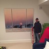 60x72 triptych aluminum of Moonrise