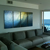 "Custom size 40x80 non-glare 4 panel plexi with metallic prints of the ""Green Room"" taken the morning of the Quiksilver Pro in Long Beach, NY in 2011."