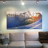 """The Curl"" taken during Hurricane Igor in Long Beach, 2010. 4 panel gallery canvas size 40x80"