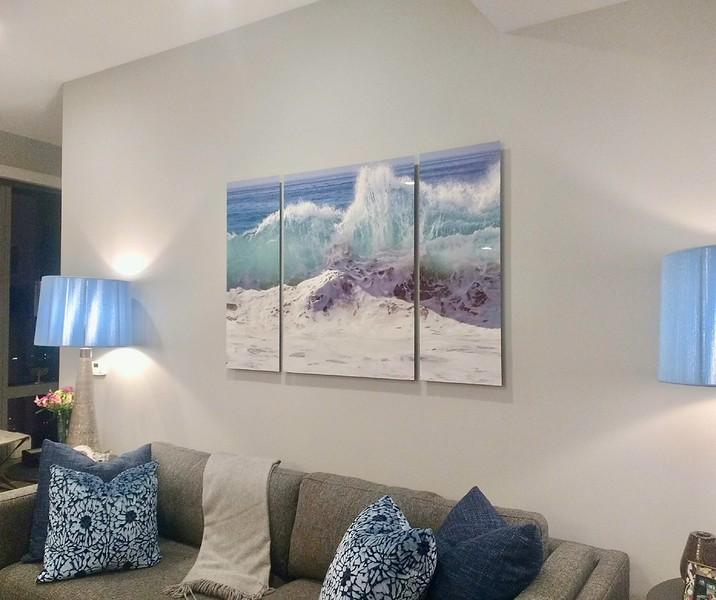 Triptych 40x60 aluminum Cabo Shorebreak