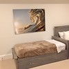 The Lion Wave size 40x60 aluminum. The profile of the wave looks like a lion with its paw in the background.