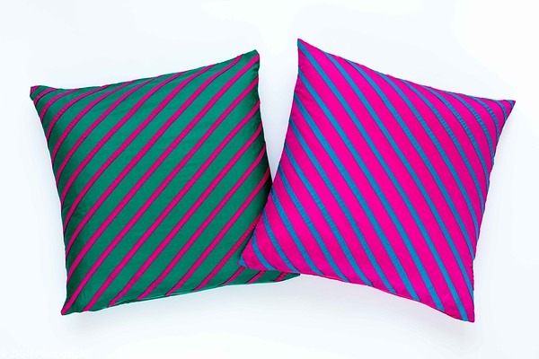 Two Colorful Throw Pillows