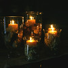 Dining Table Center 5 with candles lit