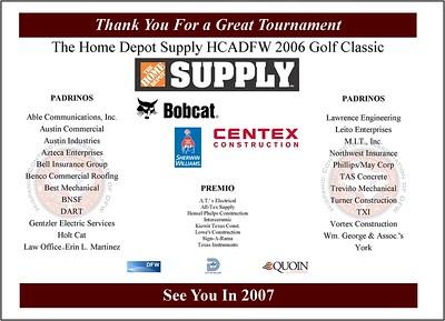 Home Depot Supply 2006 Golf Classic - September 19, 2006