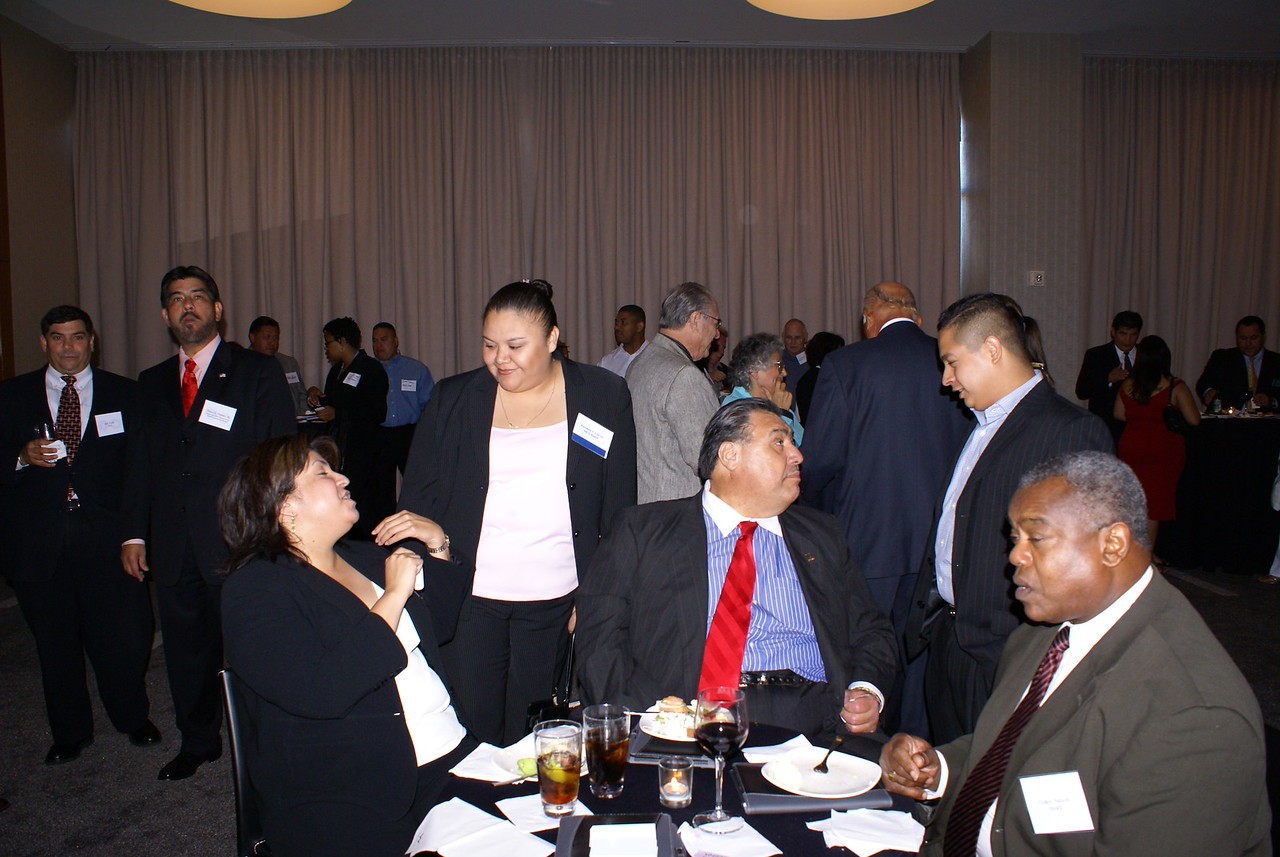 Stella Vargas, DISD, Elizabeth Chavez, Ponce Contracting and HCADFW Board Member with Frank Cortez, DART and GDHCC Board Member with Max Chavez, Iron Max