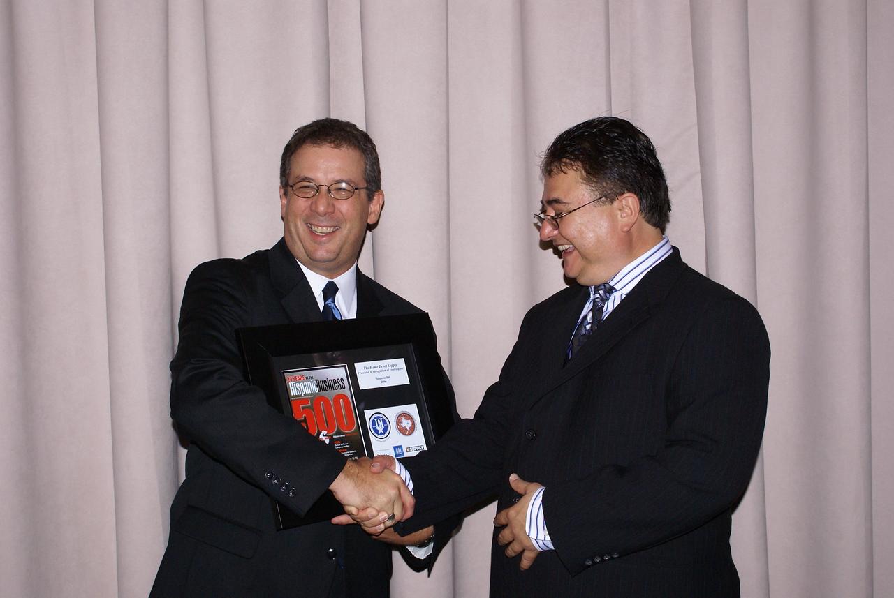 John Suarez, Home Depot Supply and Chris Escobedo, HCADFW Board Chairman