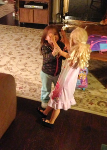 Chloe Dancing with Barbie