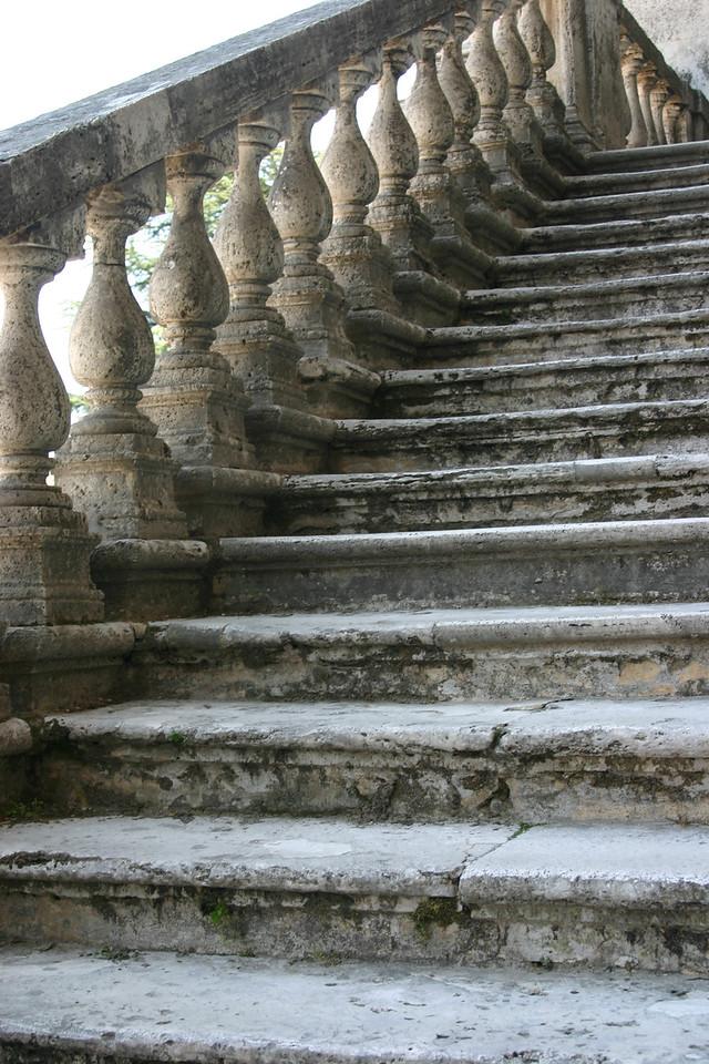 Staircase<br /> Tivoli, Italy