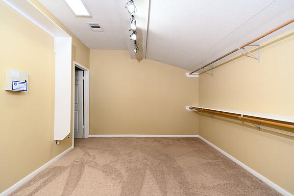 Master closet looking toward bedroom door