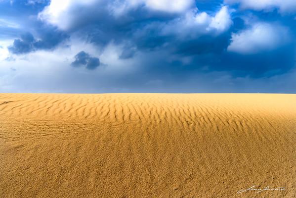 When Winter Sky and Summer Sand meet