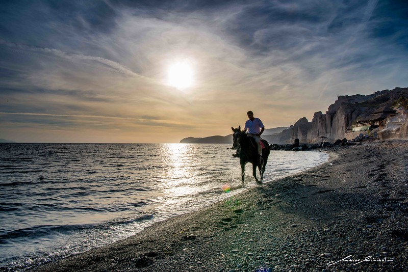 Santorini Sunset Horse Ride