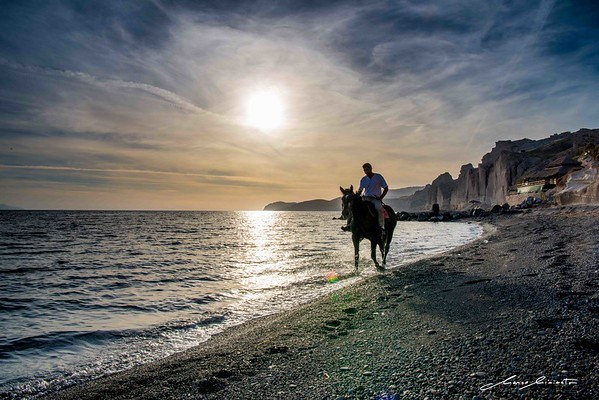 Santorini Sunset Horse Ride