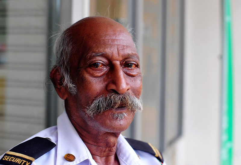 Mr Velayutham, Security Guard
