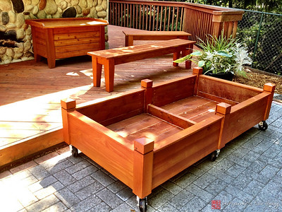 Cedar yard furniture