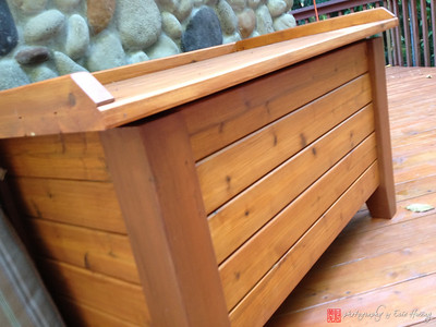 Outdoor cedar storage chest