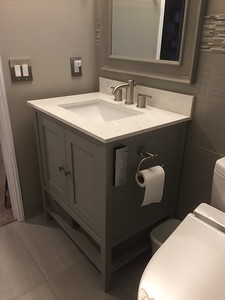 Completed vanity with top