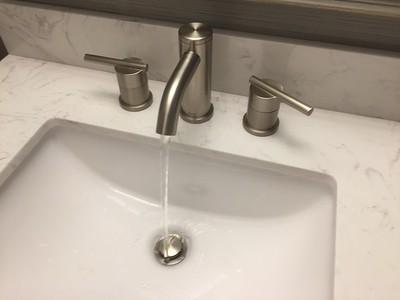 Sink faucet detail