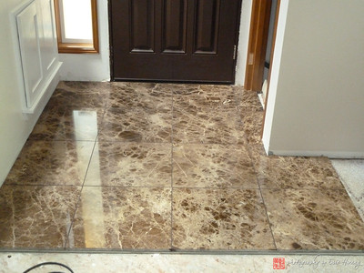 Marble tile entry