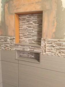 Installing shower niche