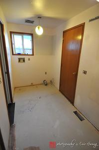 Remodel of laundry room in progress