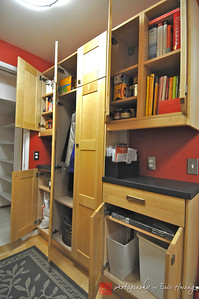 Completed laundry room remodel (note the coat closet which is partially inset into the wall