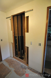 Framing a section of the wall where custom closet is inserted