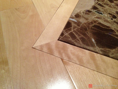 Detail of maple flooring installation