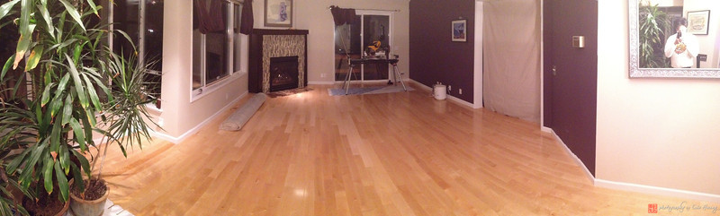 Solid hardwood maple floors