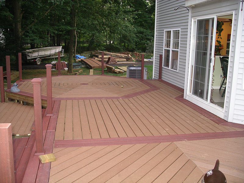 Looking down the length of the deck from the far end.