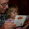 Daddy reading with Sarah