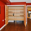 Build in shelves in large double closet in office or second bedroom.